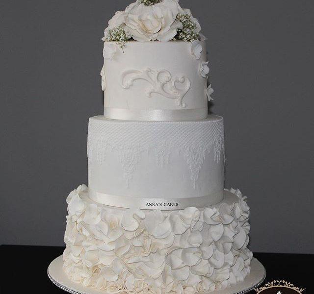 Elegante bruidstaart Anna's Cakes