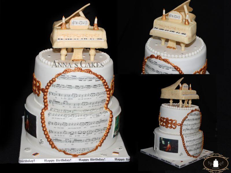 3D piano taart