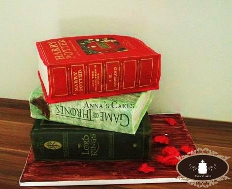 3D boeken van taart