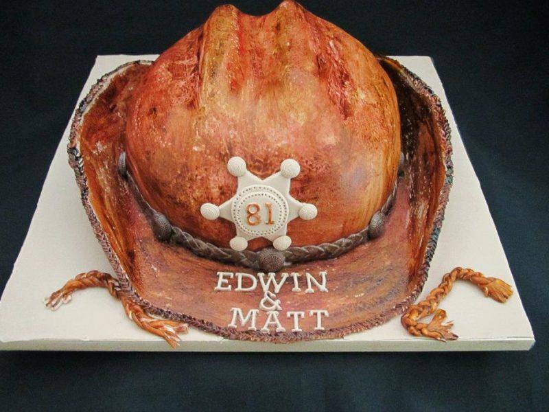 Cowboyhoed taart