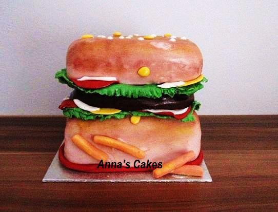 Hamburger 3d taart