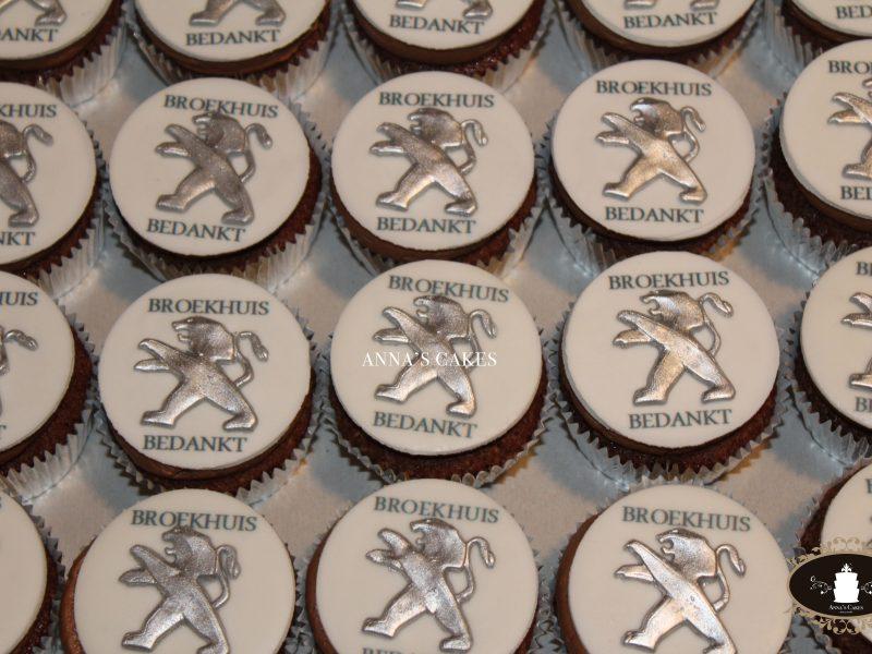 Cupcakes voor Peugeot Broekhuis
