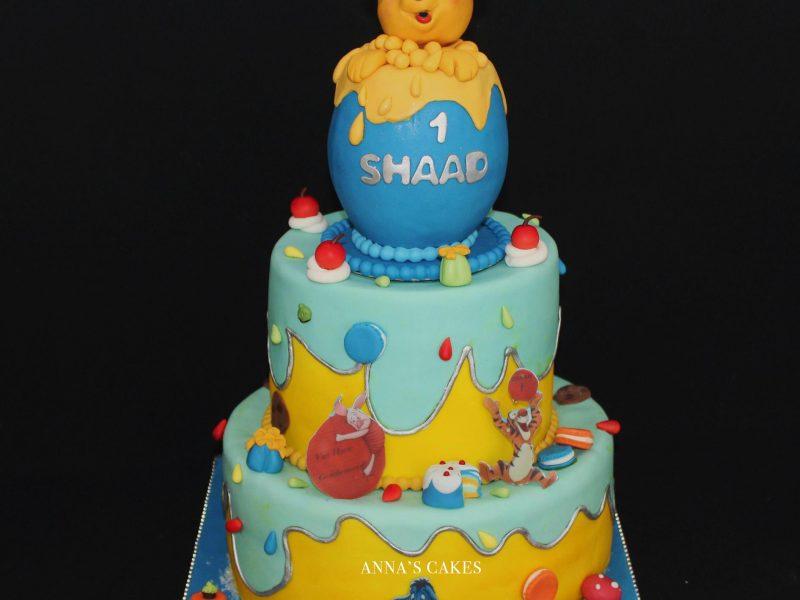 Winnie de pooh 3D taart